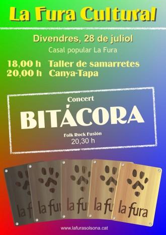 Taller de samarretes, canya-tapa i concert de Bitácora al Casal Popular la Fura