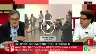 VÍDEO El comentari de Marhuenda després que Yoko Ono doni suport al referèndum