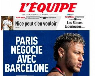 Vés a: La premsa francesa embolica una mica més el culebrot de Neymar