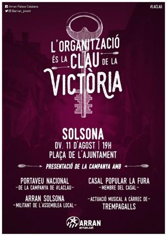 Presentació a Solsona de la campanya «L'organització és la clau de la victòria»