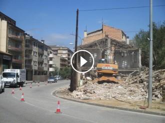 VIDEOS: Enderroc de l'edifici de Cal Sala