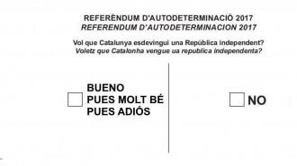 Vés a: La frase de Trapero es fa viral convertida en una papereta del referèndum