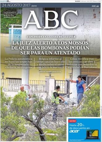 Vés a: PORTADES La premsa espanyola aposta fort per desprestigiar els Mossos