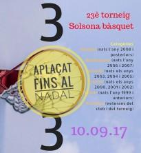 S'ajorna la 23ª edició del Solsona Bàsquet 3x3
