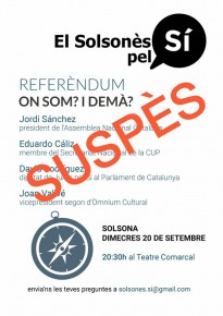 Suspenen l'acte previst avui al Teatre Comarcal