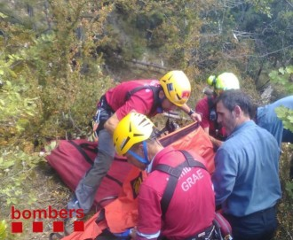 Un parapentista ferit greu després d'accidentar-se a Montmajor