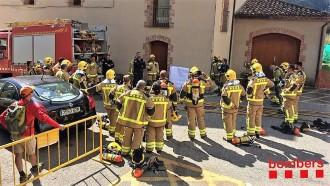 Sant Llorenç de Morunys es converteix en l'escenari de pràctiques dels bombers