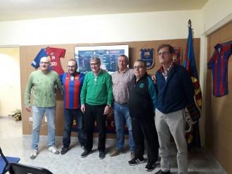 Visita del President de la Penya Barcelonista de Ponts a la Penya Barcelonista Solsona i Comarca