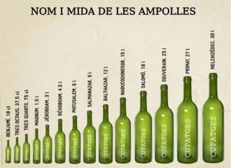 Quina importància té la mida de les ampolles de vi?