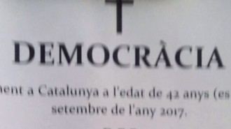 Vés a: L'esquela que anuncia la mort de la democràcia a Espanya