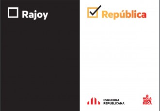 Vés a: «Rajoy o República»: el nou lema d'ERC per endurir la campanya de l'1-O