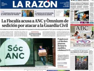 Vés a: «La maquinaria de injerencias rusa penetra la crisis catalana», a la portada d'«El País»