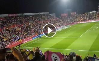 Vés a: VÍDEOS «Votarem, votarem»: clam pel referèndum al Girona-Barça