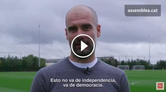 Vés a: VÍDEO El clam de Guardiola per la llibertat després de l'operació contra el referèndum