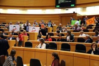 Vés a: ERC i PDECat exhibeixen pancartes de «Democràcia» al Senat