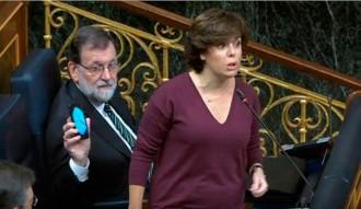 Vés a: VÍDEO El misteri del xat del mòbil de Rajoy al Congrés