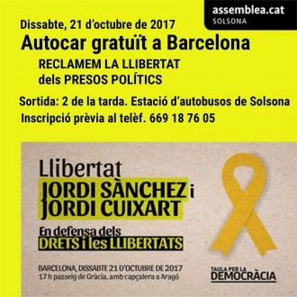 L'ANC Solsona posa un bus gratuït per anar a la manifestació de dissabte