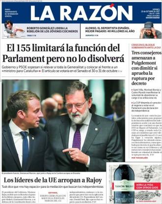 Vés a: La premsa espanyola explica com planteja l'Estat aplicar el 155