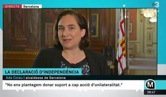 Vés a: Colau adverteix a Puigdemont que els «comuns» no donaran suport a una DUI