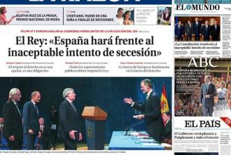 Vés a: Les mesures del 155 contra Catalunya, a les portades de la premsa espanyola