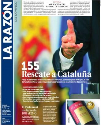 Vés a: PORTADES La premsa espanyola aplaudeix el 115 que «rescatarà» Catalunya