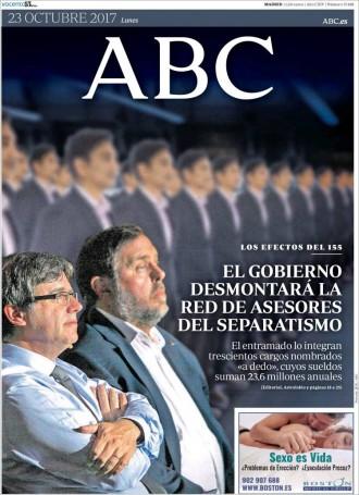 Vés a: PORTADES El 115 apunta ara a 300 alts càrrecs de la Generalitat, segons la premsa espanyola