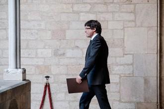 Vés a: Les paraules de Puigdemont als diputats de JxSí: «Jo no seré el president que porti morts al carrer»