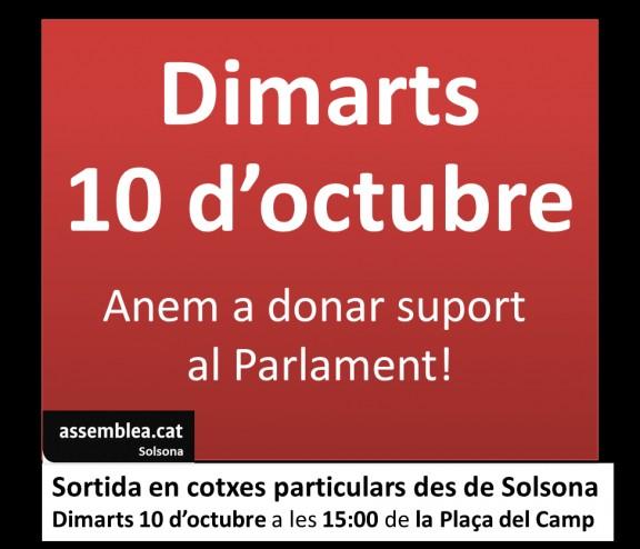 Anem a donar suport al Ple del Parlament