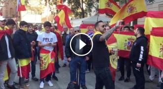 Vés a: VÍDEO «El novio de la muerte»: himne espanyolista per protestar contra una manifestació antifeixista