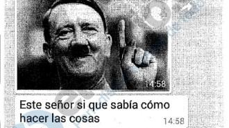 Vés a: Escàndol pels missatges de la policia de Madrid contra Rufián, Ana Pastor i a favor de Hitler