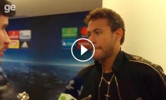 Vés a: VÍDEO Neymar planta un periodista a la zona mixta de la Champions