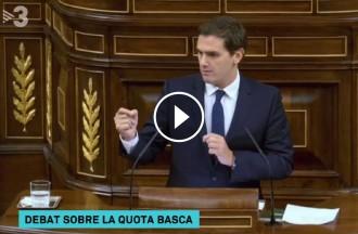 Vés a: VÍDEO Del «cuponazo» a l'«Arc de Triomf»: la picabaralla entre Rivera i Montoro per la quota basca