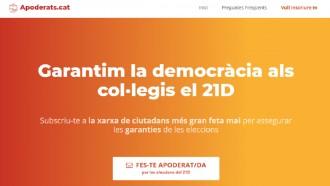 Vés a: «Apoderats.cat», el web per vetllar per les garanties democràtiques del 21-D