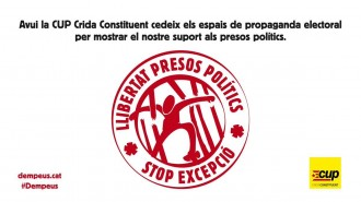 Vés a: TVE haurà de compensar la CUP pel veto de propaganda electoral a favor dels presos
