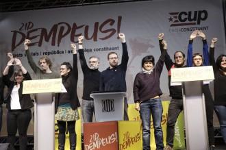 Vés a: La CUP crida l'independentisme a fer república «desobeint i unilateralment»