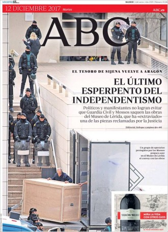 Vés a: PORTADES «El último esperpento del independentismo», a l'«ABC»