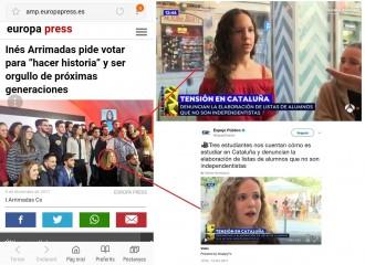 Vés a: De denunciar amenaces d'independentistes a «Espejo Público» a participar en mítings de Cs