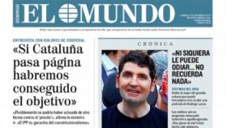 Vés a: PORTADES «Cospedal: 'Si Catalunya passa pàgina haurem aconseguit l'objectiu'», a la portada d'«El Mundo»