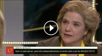 Vés a: VÍDEO Rahola s'emociona recordant els presos polítics