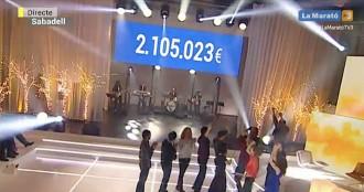 Vés a: «La Marató» ja ha recaptat 2.105.023 euros