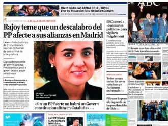Vés a: PORTADES La premsa espanyola, nerviosa per una possible patacada del PP a Catalunya