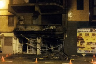 Vés a: Evacuen una seixantena de veïns d'un bloc en un incendi a Manresa