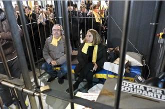 Vés a: La presó simbòlica que demana la llibertat dels presos polítics arriba a Granollers