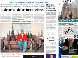 Vés a: PORTADES El procés «destrossa» les institucions catalanes, a «El País»
