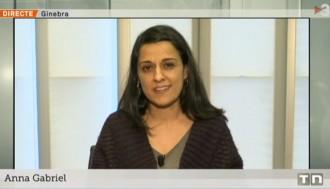 Vés a: Anna Gabriel, a TV3: «És una persecució política»