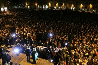 Vés a: La plaça de Vic es bolca amb Marta Rovira i els consellers empresonats