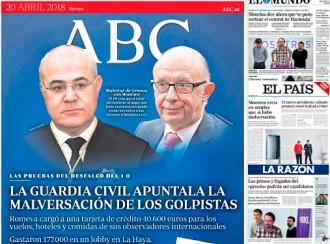 Vés a: PORTADES La premsa espanyola intenta justificar la topada entre Llarena i Montoro