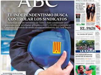 Vés a: PORTADES «El independentismo apuesta por un terrorista de Terra Lliure condenado por asesinato», a l'«ABC»