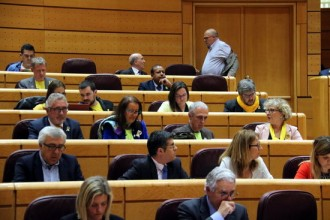 Vés a: FOTOS ERC i PDECat porten el groc al Senat
