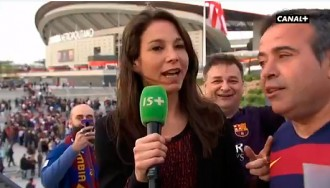 Vés a: VÍDEO «No em toquis!», la resposta irritada d'una periodista francesa a un culer